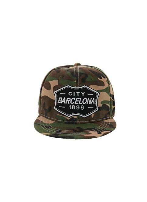Laslusa City Barcelona Hip Hop Snapback Şapka Haki